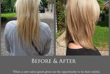 Hair: Before & After / Hair color pictures before and after to inspire salon guests who love/need a change / by B's Beauty & Beyond