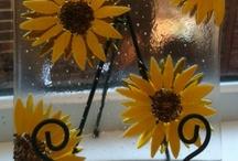 Fused Plates / Sun flowers