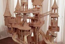 Modeller, miniatyrer, dockskåp