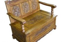 Chinese Lindenwood Furniture ~ Hand Carved Chinese and European Designs / Hand-carved Lindenwood furniture - Hand crafted & carved oriental Lindenwood coffee tables and stools. The Linden is an oriental relative of the Lime tree. In the climate of South China the tree grows relatively fast producing an even grain much favoured by carvers.