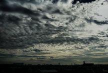 今朝の空。それにしても暖かい。 It's the sky in this morning. #sky #landscapes #clouds #ケサソラ写真