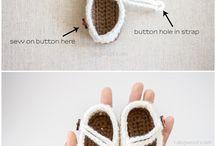 sapatinhos de crochê