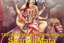 TRIVENI CARD - 5th Day of Navratri -  / TRIVENI CARD - 5th Day of Navratri -   http://weddingcardshoppe.com/ViewLargeCard.asp?CardCode=5307dSkanda Mata  The fifth manifestation of the goddess Durga worshipped on Navratri panchmi is 'Skanda Mata', the mother of Skanda Kumar or Lord Kartikeya Lord Kartikeya was chosen by devtas as their commander in chief in the war against the demons.