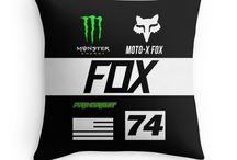 Motocross Throw Pillow / all about motocross designs