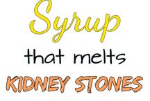 Syrup that melts kidney stones