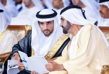 Hamdan MRM con su padre 1 / Hamdan bin Mohammed bin Rashid Al Maktoum con su padre, Mohammed bin Rashid bin Saeed Al Maktoum