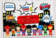 Convites Super Heróis