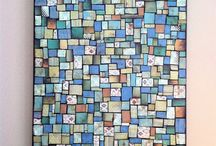 Collage ideas / Paper mosaic composition photos painting