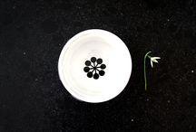 frjor . Anna Becker . spring / six bowls - six different patterns  porcelain . height 8cm . diameter 14cm . capactiy 725ml .  weight 449g