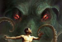 Ilustraciones de terror, ciencia ficción, onírico.