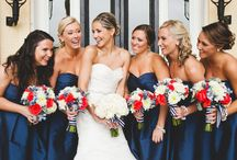 Red white & blue weddings