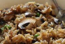 Riz frit aux champignons