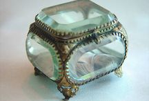Victorian glass jewellery boxes