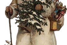 Antike Weihnachtsmänner