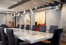 Commercially Beautiful / We love big, beautiful spaces. This is our collection of some of the most elegant commercial boardrooms, lobbies, and offices we have seen that showcase granite, marble or other incredible stones.