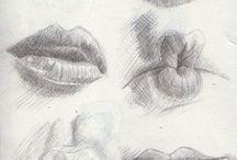 Labios dibujos