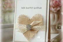 Rustic card designs