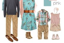 Outfit Ideas-Spring / These are Ideas for color schemes/outfits for portrait sessions.