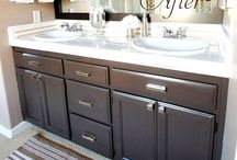 Bathroom cabinets / by Jill Walmer