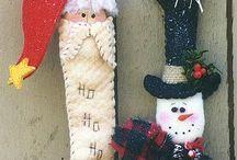 Enfeite de Natal em Feltro das Amigas / LINDOS DE MAIS!