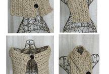 Palillos y telares... / ...cuellos, bufandas, guantes, etc.,...