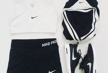Flat lay sports wear