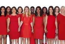 Go Red for Women ⊰❤⊱ / February is the Month! 1 in 3 women die of heart disease and stroke each year. Join the movement to end heart disease and stroke in women - because it's not just a man's disease. -Red Dresses only -