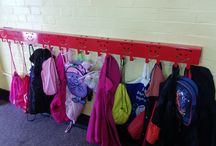 Backpack Hooks / Children's Coat Hooks and Backpack hook. Perfect for schools or mudrooms