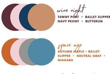 Fantastic Colour Palettes for your Home / A range of colour palettes to match any style.