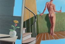 Peter Colstee : Male Nude Youth Art  (1960-living) / The Male Nude paintings of Peter Colstee.   Sprocket Trust project to educate homophobic Devon & Cornwall police one painting at a time.