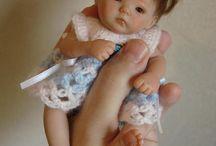 mini miminka / miniaturní panenky z polymerové hmoty