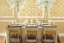 1920's Inspired Glam Wedding  / The 20s have come roaring back in a big way! Geometric forms, etched glass and sumptuous, golden hues streamline together creating the ritziest wedding in town. / by Hobby Lobby