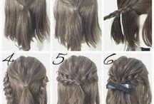 egyszerű hajak