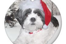 Shih Tzu Christmas / If you love a Shih Tzu, then you'll want to feature them on your Christmas cards, tree ornaments and even your mousepad. Aren't these cute! I have a page with more information about shih tzus: http://virginiaallain.hubpages.com/hub/shih-tzu-loving-dogs