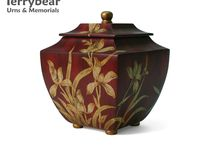 Red Cremation Urns / Terrybear products are available at your local funeral home.