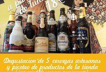 DEGUSTACIONES DE CERVEZAS ARTESANAS / Degustaciones en la tienda de cervezas artesanales con productos de La Chucrut