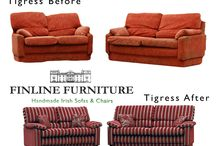 R E C O V E R Y / Want to give your old suite a new facelift?  We only recover our own furniture.  STEPS: Take a photo of your sofas & chairs and send them to us at info@finlinefurniture.ie.  We will confirm the suite is ours and provide an approximate price to recover.  We can give a more exact costing based on what fabric you choose.  We will arrange to have your sofas or chairs collected by our carriers once the order is confirmed.  Wait for sofas delivered back to you.   Lead time around is 2 – 3 weeks