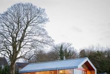 for cabin and housebuilding plans / : cabins, prefab houses, lodges :