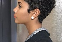 Natural Curls •*•*• Short Haircuts / Natural curly girls with coils that speak style all around!