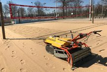 Volleyball Court Cleaning Sand