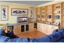 Entertainment Units / The living room is where the heart is. Allow Long Island Closet Design to transform your cluttered area into a open, space saving solution that your whole family will enjoy. Call us today for a free consultation! (631) 567- 2277