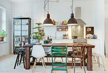 mismatched dining chairs / great idea to refresh boring dining room
