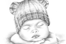 tegning baby