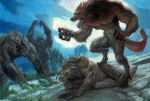 werewolf & wolf
