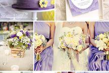 Esküvő - Lila-sárga téma