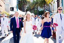 Pink -  Navy / Wedding Ideas