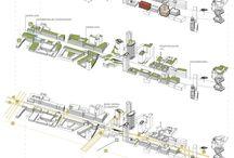 Infographics - Visual Data / Schémas, plans masses, rendus, carto, coupes, plans, photoshops, illustrator, ...