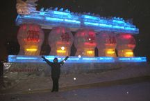 """Harbin, China! / The """"dead"""" of winter is the most """"alive"""" time in the city. Why? Because of the Harbin International Ice and Snow Festival--absolutely amazing! Who cares if it's cold? I didn't even notice the cold, I was having so much fun. :-)"""