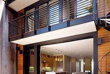 Contemporary balcony railings