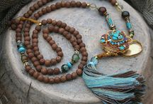 Necklaces and malas